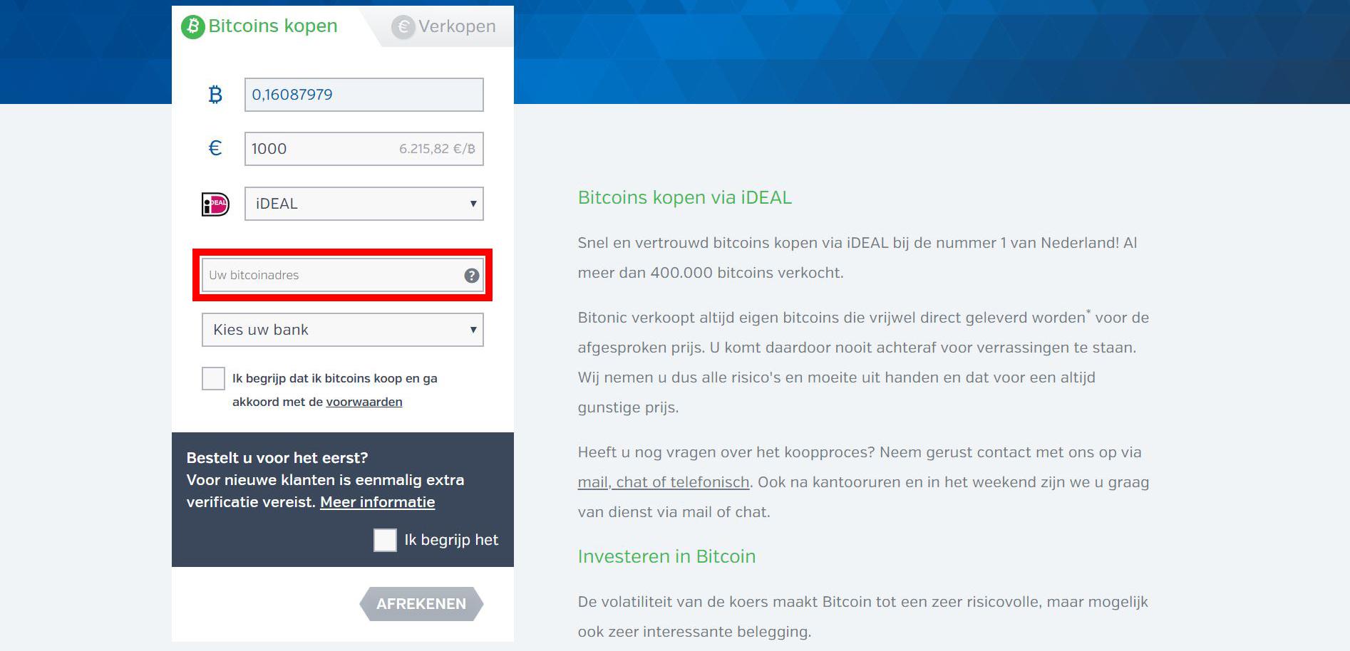 Bitonic hoe kan ik Bitcoin kopen vul je Bitcoin adres in