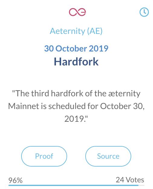 Aeternity AE Hardfork