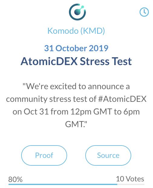 Komodo KMD AtomicDEX stresstest