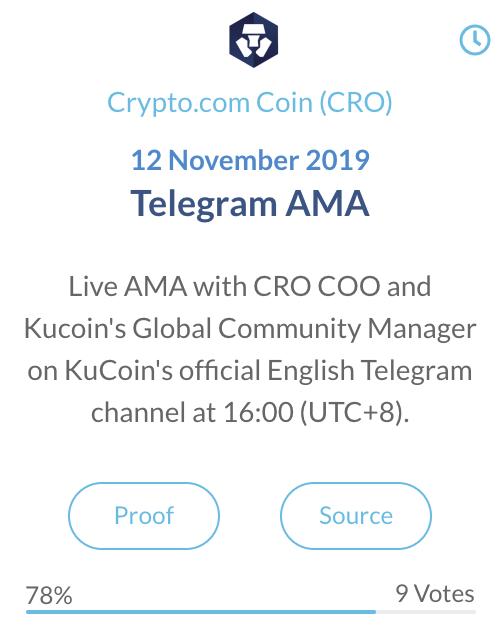 CRO Telegram AMA