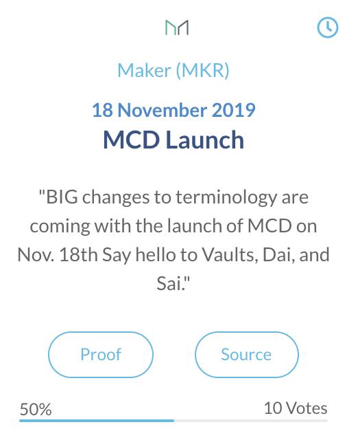 Maker MCD lancering