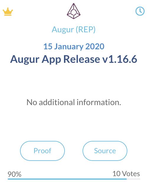 Augur REP app release 1.16.6