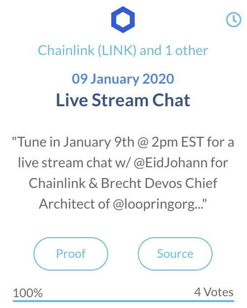 Chainlink LINK Live Stream Chat
