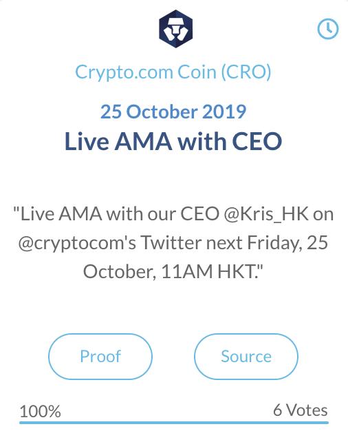 Crypto.com coin Live AMA met CEO
