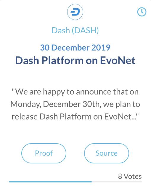 Dash platform op EvoNet
