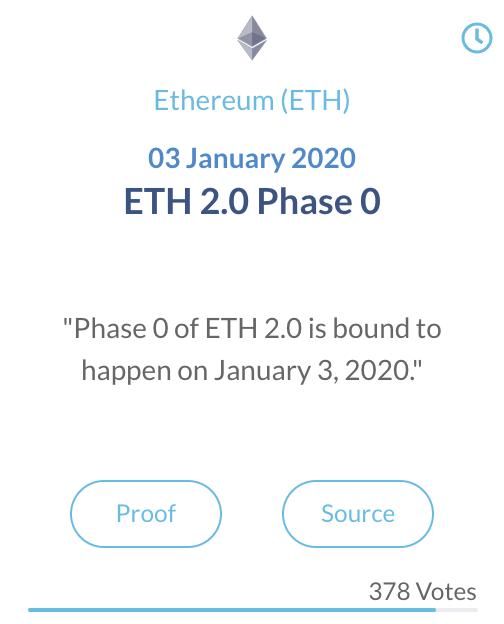 Ethereum ETH 2.0 fase 0