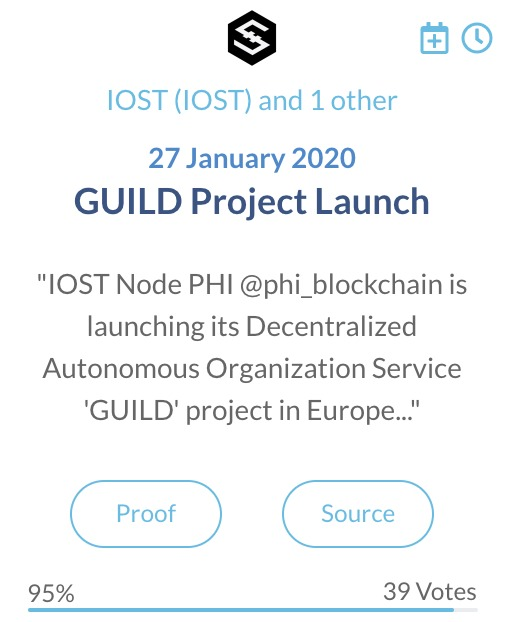 IOST GUILD project lancering