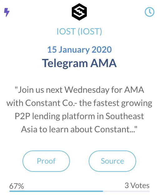 IOST Telegram AMA