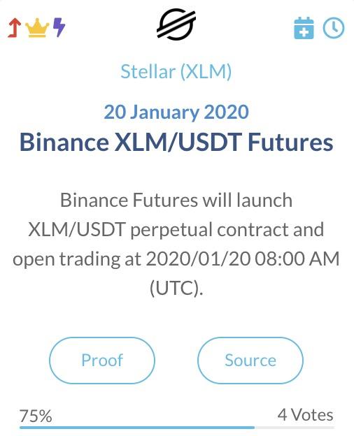 Stellar XLM Binance XLM USDT futures