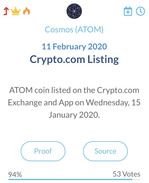 Cosmos ATOM Crypto.com listing