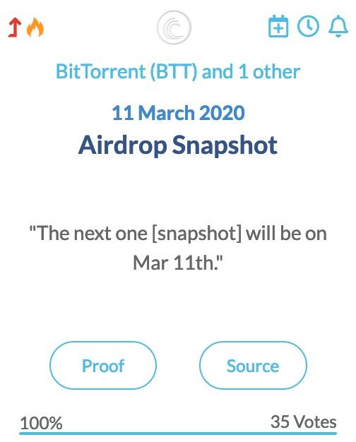 BitTorrent BTT Airdrop Snapshot