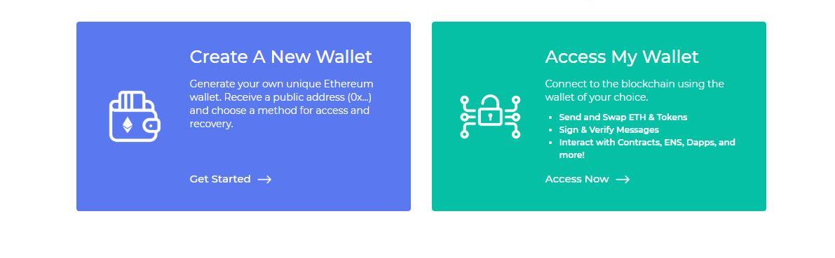 MEW Nieuwe Wallet Aanmaken