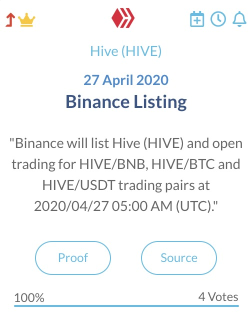 Hive Binance Listing
