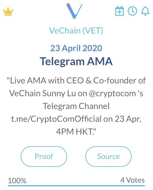 VeChain Telegram AMA