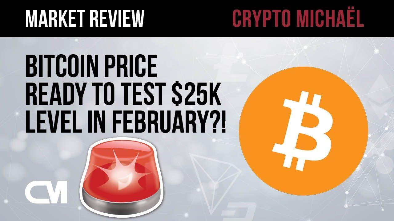 Gaat de Bitcoin prijs het 25000 dollar niveau testen in februari