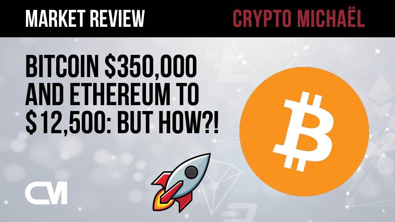 Bitcoin naar 350000 dollar en Ethereum naar 12500 dollar maar hoe