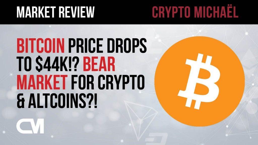 Bitcoin prijs daalt naar 44000 zitten we in een bearmarket voor crypto en altcoins