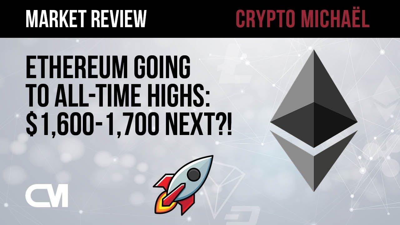 Ethereum naar nieuwe all time high van 1600 a 1700 dollar
