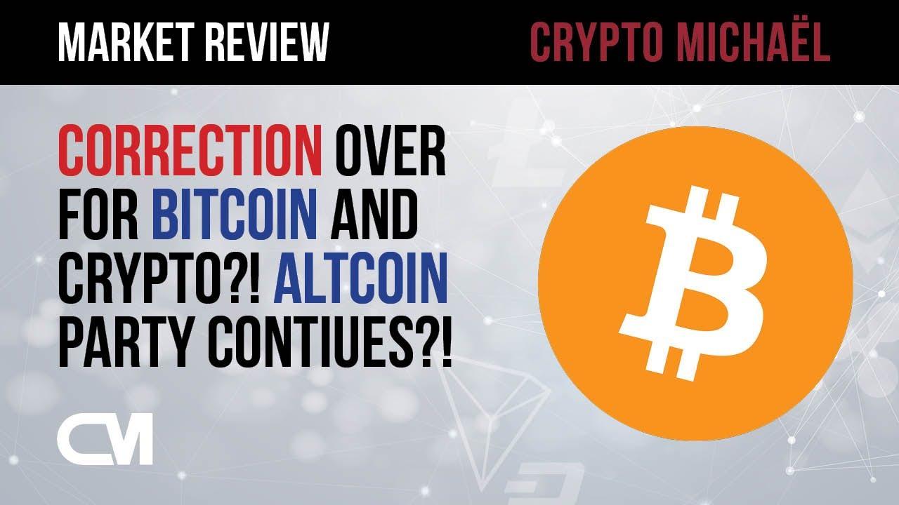 Is de correctie voorbij voor Bitcoin en crypto gaat de altcoin stijging verder