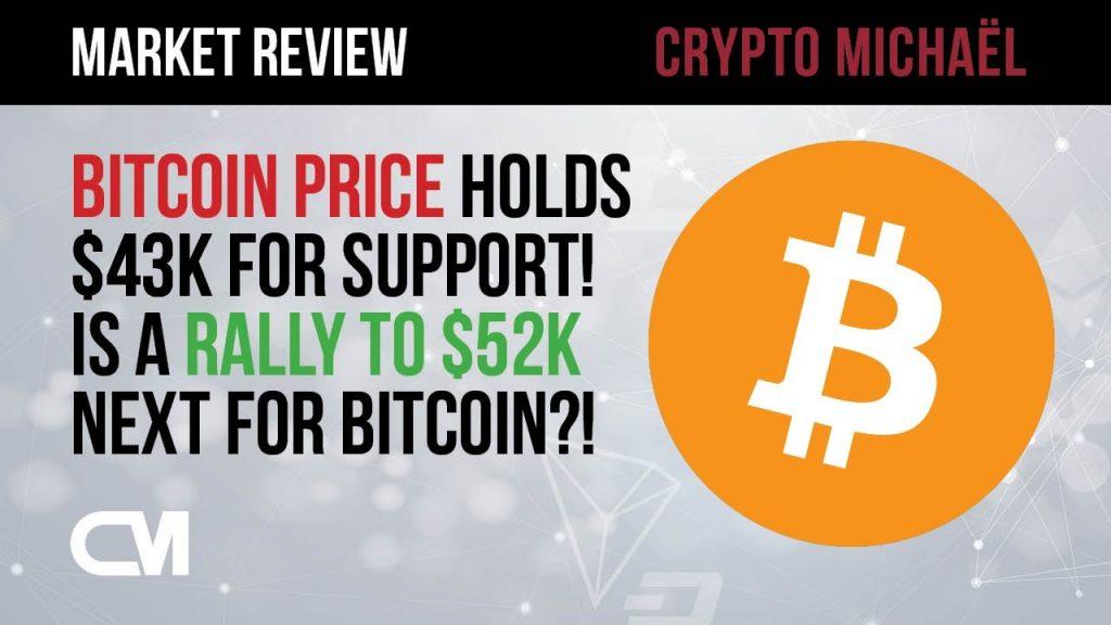 Bitcoin prijs houdt stand op 43000 dollar kunnen we naar 52000 dollar