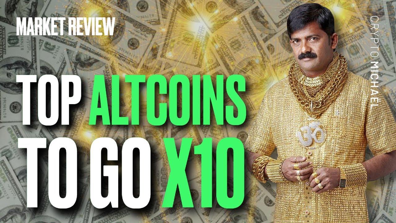 Top altcoins die keer 10 kunnen gaan