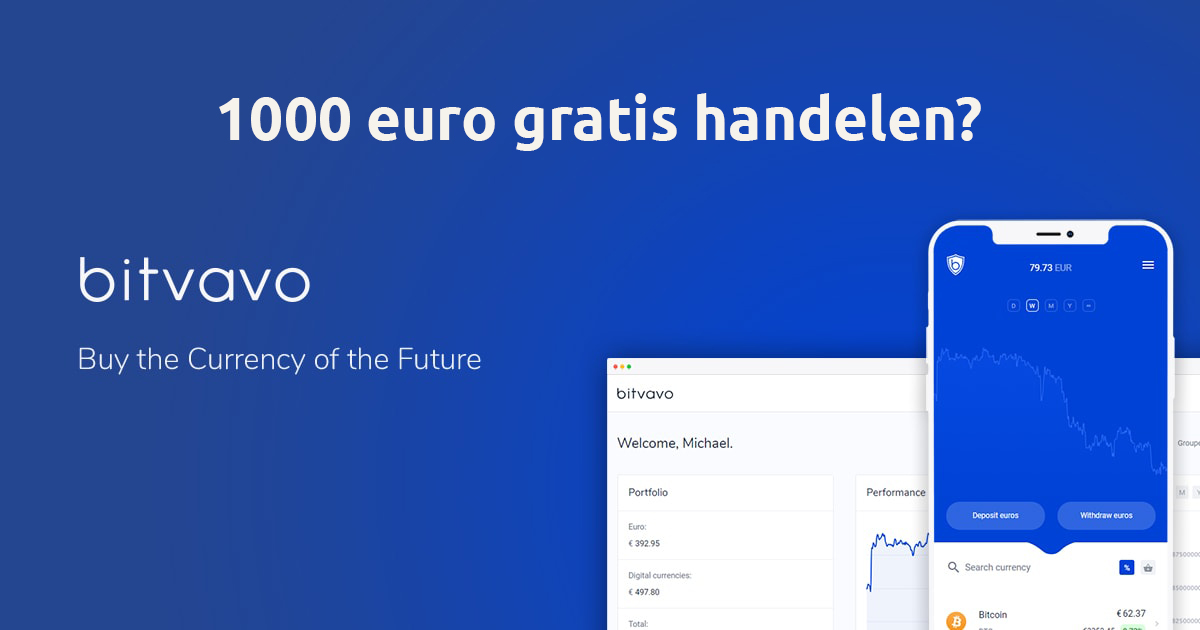 Bitvavo 1000 euro gratis handelen