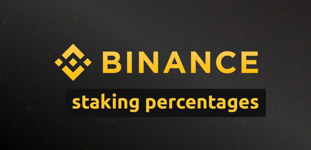 Binance staking percentages